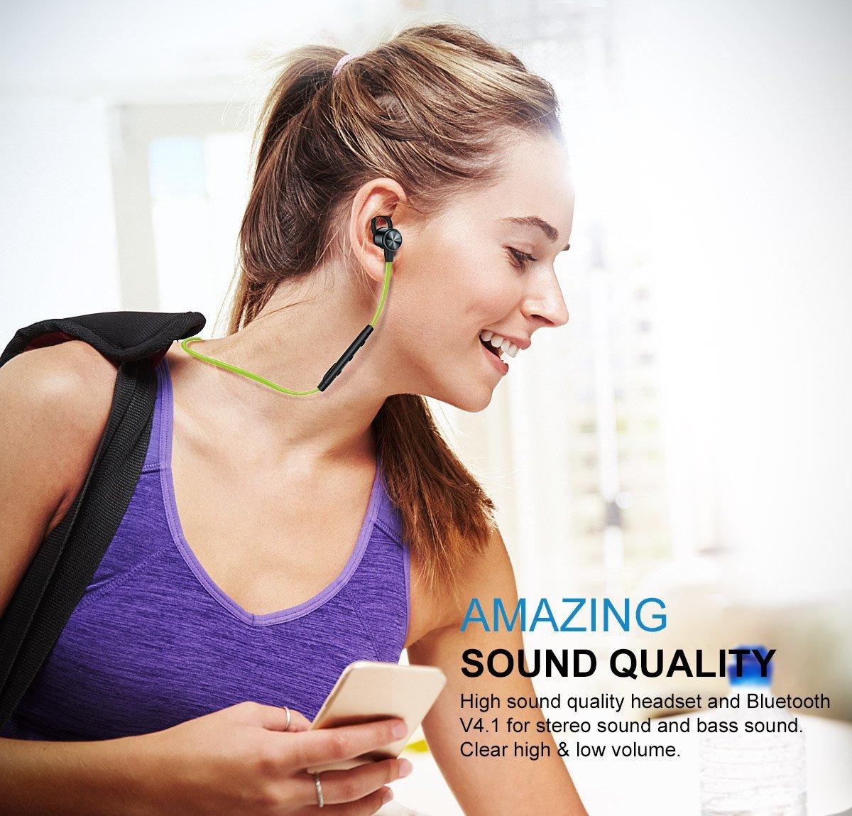 Lightweight Sweatproof Stereo Bluetooth Headphones $17.99 @Amazon