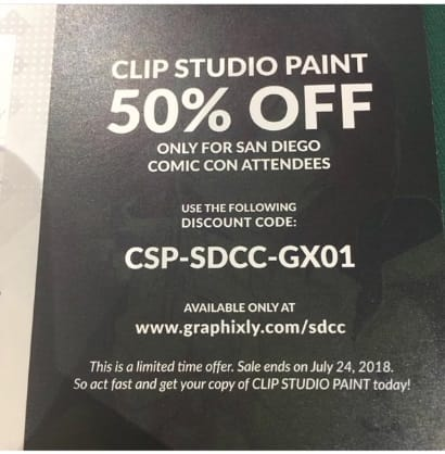 $25 for Clip Studio Paint PRO - 50% OFF MSRP - Comic, Manga and Illustration Software for Mac & Windows $49.99