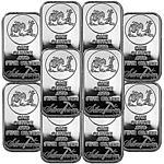 SilverTowne Logo 1oz .999 Fine Silver Bar LOT OF 10 - $203.99 + Free shipping @ eBay via SilverTowne!