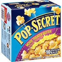 Amazon Deal: Pop Secret Movie Theater Butter Popcorn, 1.75 oz, 10 count x3 $7.10 or lower w/ S&S @Amazon ($3.98 for 1 box @Walmart)