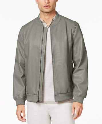 Alfani Leather Bomber Jacket $73.96 + FREE S&H