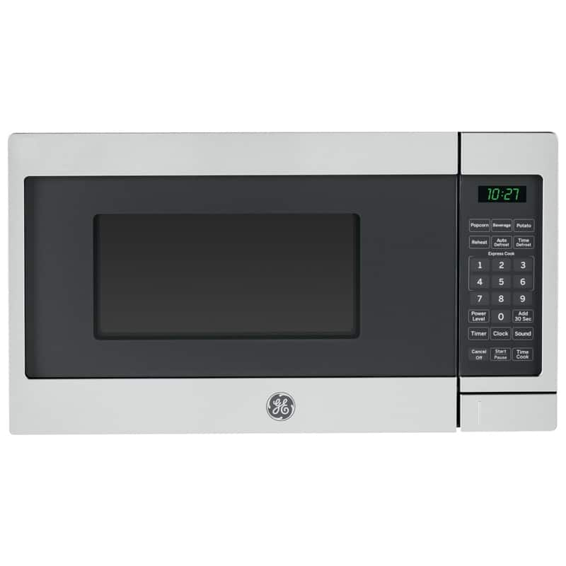 GE 0.7 Cu. Ft. Countertop Microwave - Black with Stainless Steel for $49+tax
