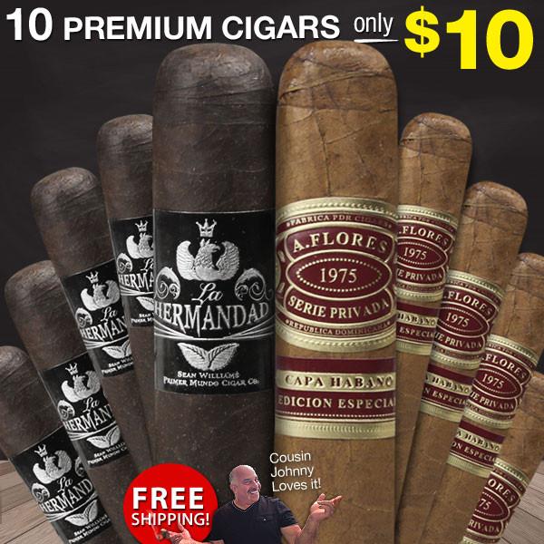 Cigar Page Prime 10-Cigar Robusto Sampler $10