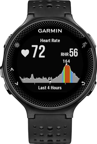 Garmin - Forerunner 235 GPS Running Watch - Black/Gray $169.99