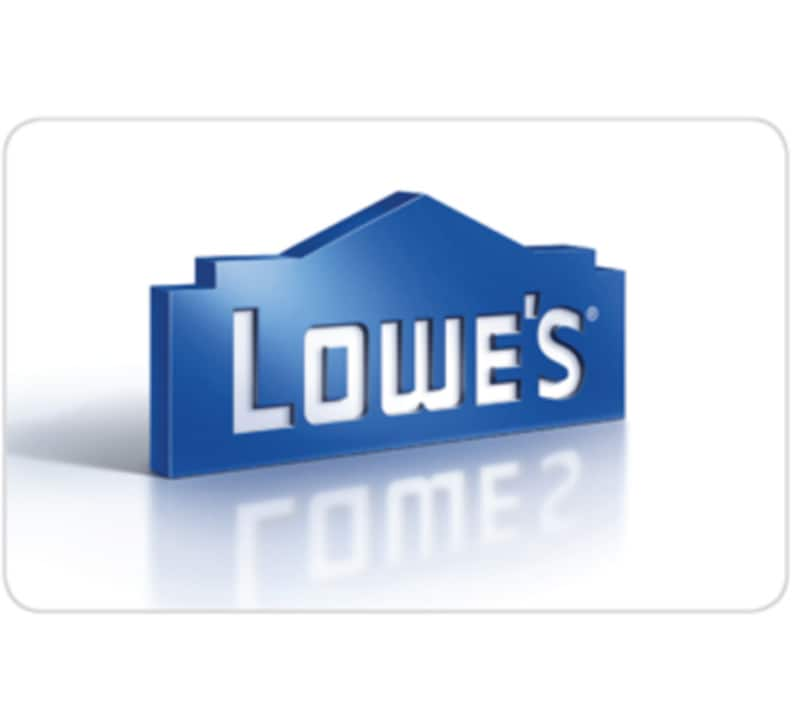Lowe's $225 gift card for $200 - eBay (Paypal Digital Gifts)