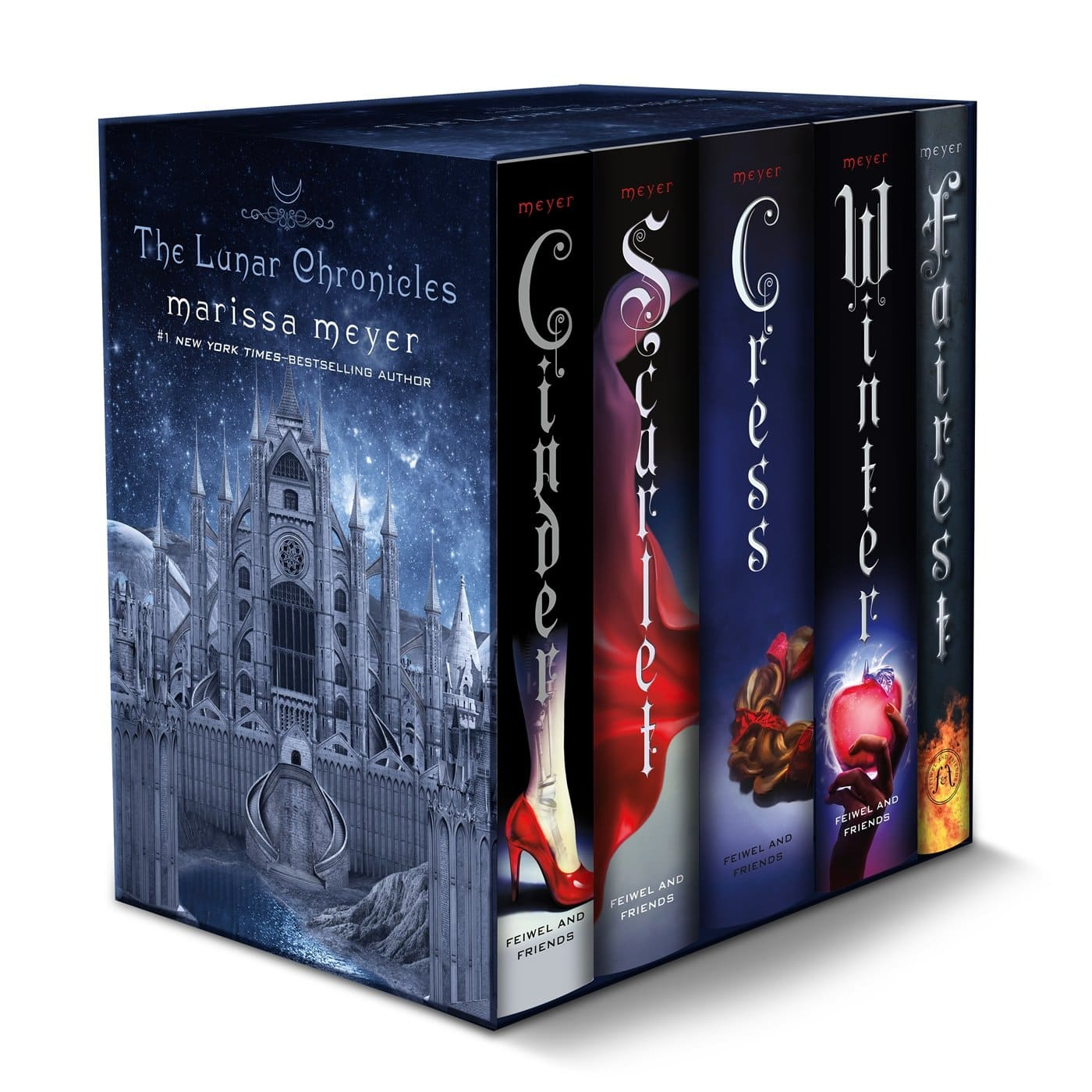 The Lunar Chronicles Boxed Set: Cinder, Scarlet, Cress, Fairest, Winter $40 at Amazon; Free shipping $39.99
