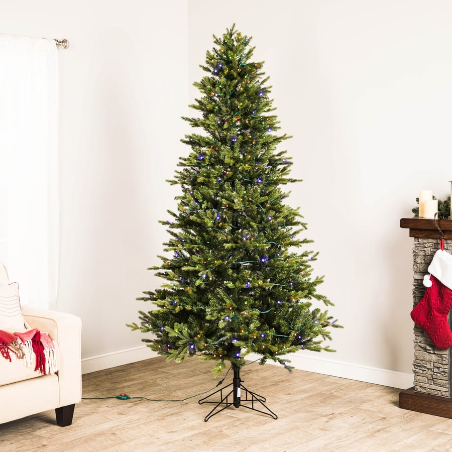 7 Ashville Fir Artificial Christmas Tree W 500 Color Lights