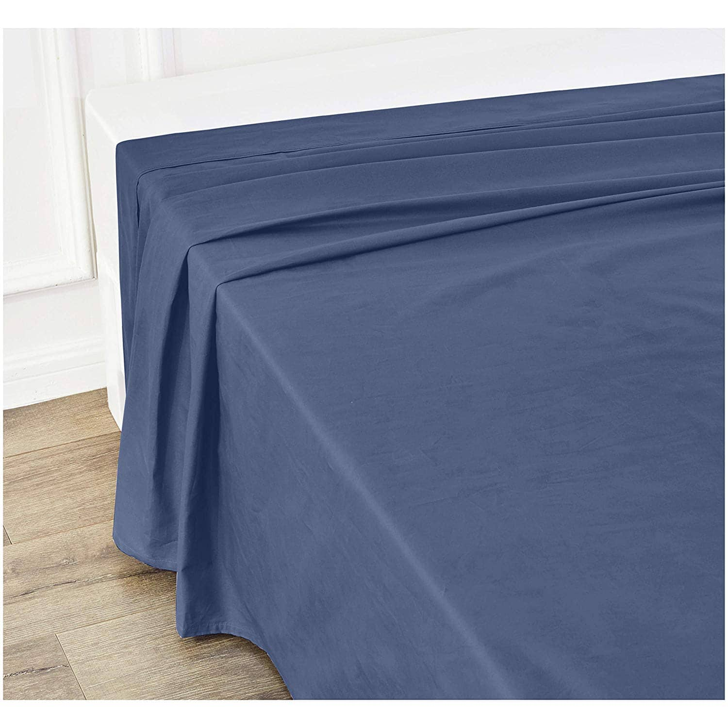 HOT!  Ultra-Soft Flat Sheet - Breathable, Easy to Wash - Queen, Midnight Blue $4.28
