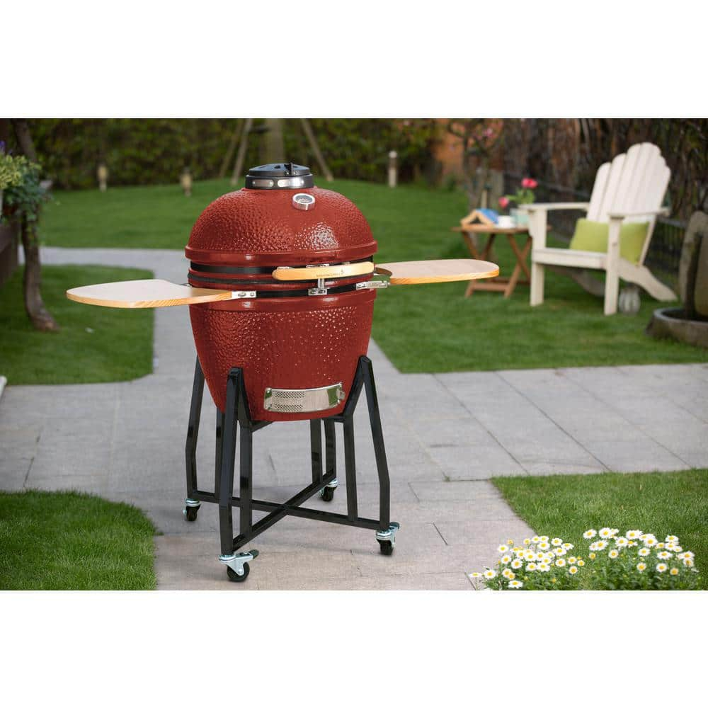 Vision Grills HD Series Charcoal Kamado Grill in Red $350
