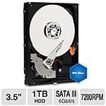 "WD Blue 1 TB Desktop Hard Drive - Solid Performance for Everyday Computing, 3.5"", SATA 6Gb/s, 7200RPM, 64MB Cache $39.99 AR - TigerDirect - Free Shipping"
