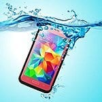 Galaxy S5 Waterproof Case - Dust/Snow and Shock Proof  Case with Touched Transparent Screen Protector -  3.5mm AUX  $12.99AC - Amazon.com -