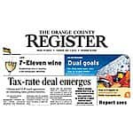 Orange County Register Newspaper Sunday 1 Year Delivery for $5, 2 Years for $10, through Groupon