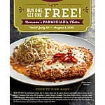 Macaroni Grill - Buy One Parmigiana Entree, Get One Free - July 30 - August 1, 2015