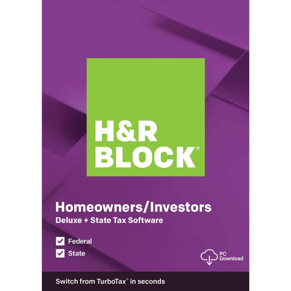 H&R Block Deluxe+State $22.50 from OfficeDepot.com & Walmart.com, Deluxe Only $15 from Walmart.com $22.49
