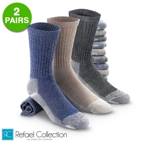 2 Pairs : Merino Wool Thermal Socks By RC Collection $4.99 @Gearxs