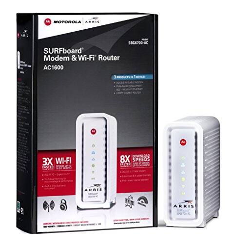 ARRIS SURFboard 8X Cable Modem with WiFi AC1600 Router - White (SBG6700AC) - Target $74.98 (YMMV)