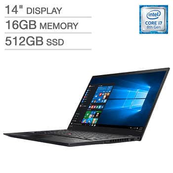 Costco Members - Lenovo ThinkPad X1 Carbon i7-8550u 16gb 512gb FHD $1399 after $100 off