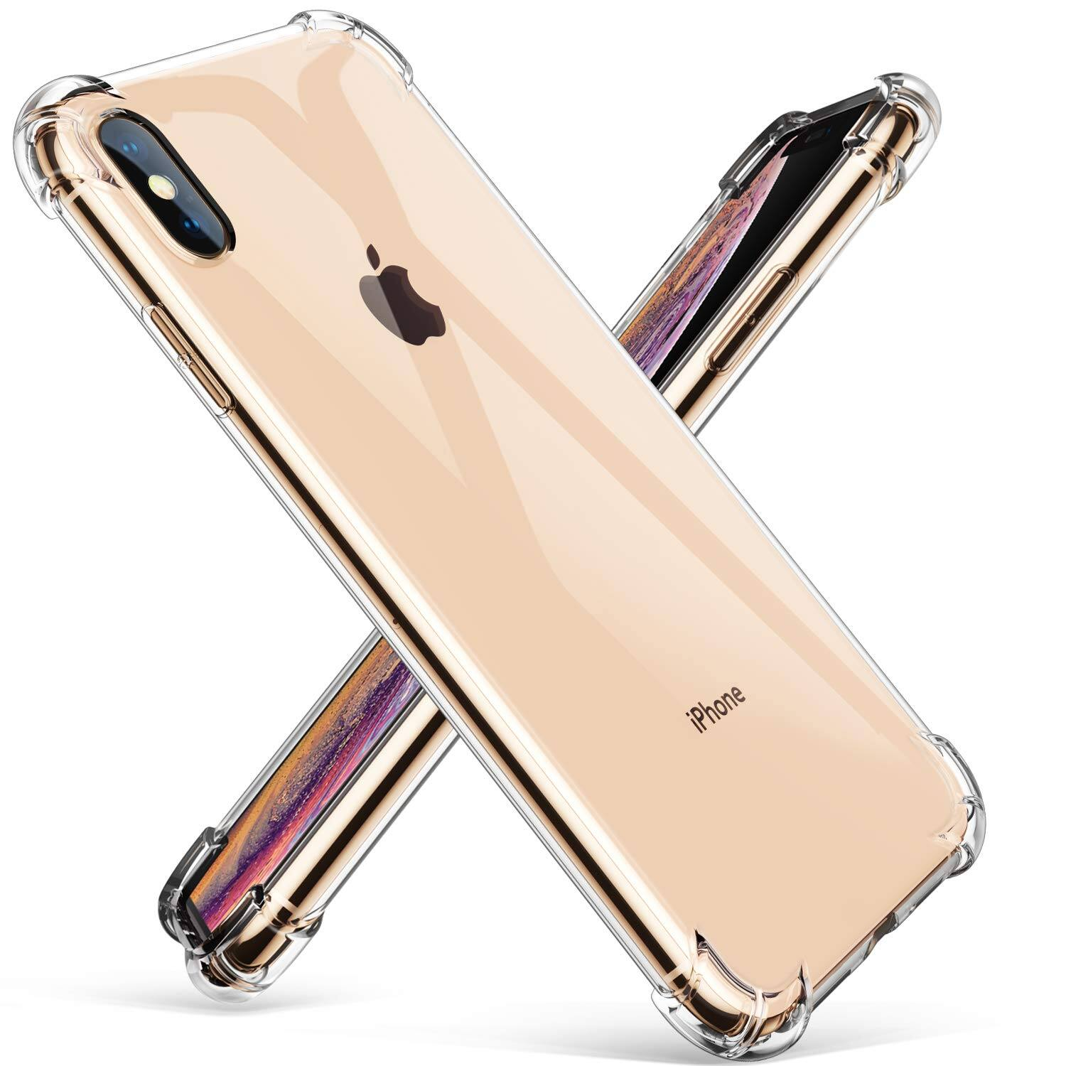 GVIEWIN Crystal Clear iPhone Xs Max Case, Soft TPU Cover with Shock Absorption Corners  for $3.96