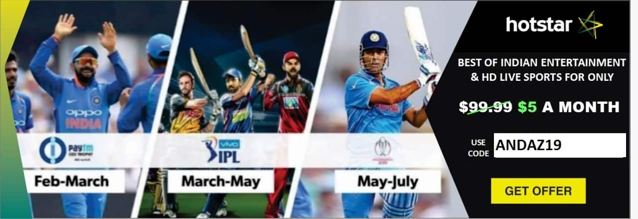Hotstar Vivo Ipl 2019 And Cricket World Cup 2019 For 69 99
