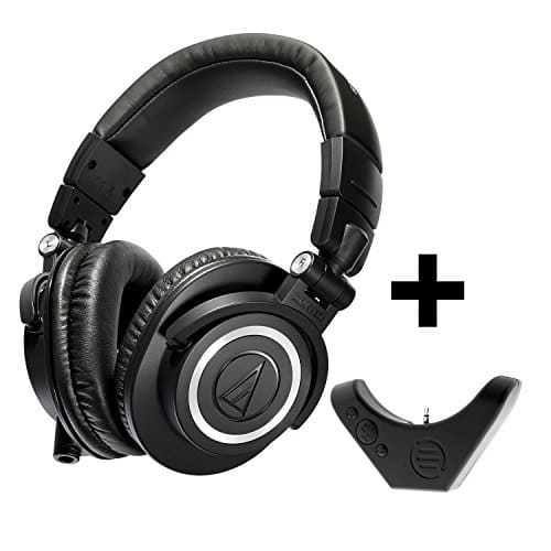 Audio Technica ATH-M50x + Bluetooth Adapter (BAL-M50X) [Black] For $129.17 @ Amazon