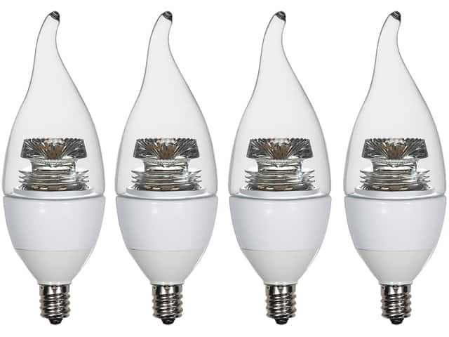 4-PK E12 40 Watts Equivalent Dimmable LED Bulb for $11 Free Shipping w/ShopRunner