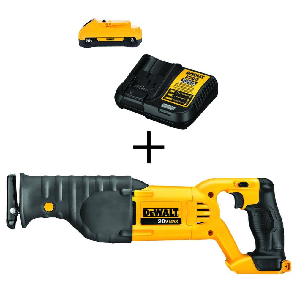 20-Volt MAX Lithium-Ion Cordless Reciprocating Saw (Tool-Only) with Bonus Battery Pack 3.0Ah and Charger $109