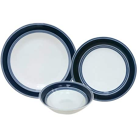 Deal Image  sc 1 st  Slickdeals & 12-Piece Mainstays Blue Banded Dinnerware Set - Slickdeals.net