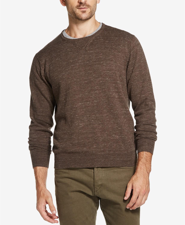 Weatherproof Vintage Mens Cotton Merino Cashmere Crewneck Sweater (various colors) $11.96
