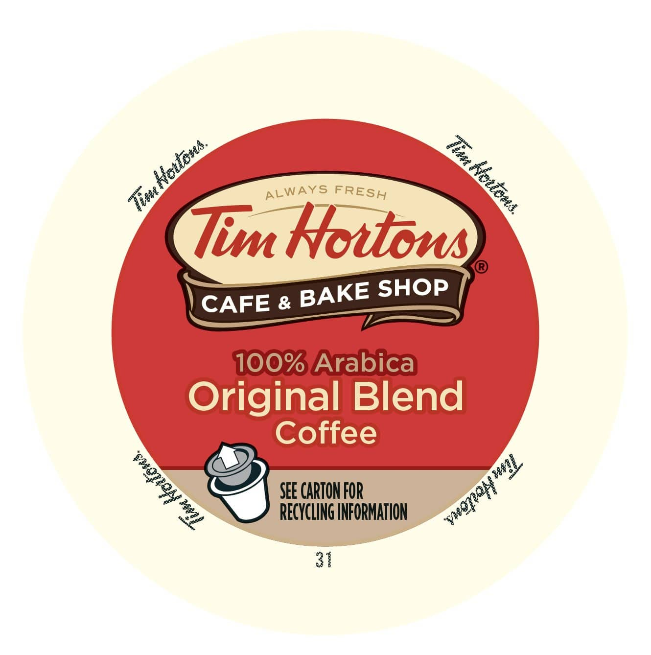 AMAZON Tim Hortons 32.8 OZ Arabica Medium Roast Original Blend Ground Coffee  $9.59 or less with S&S