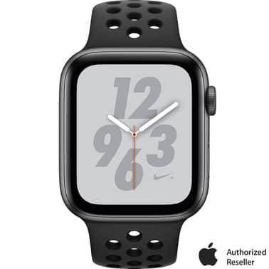 Military and Veterans - (40mm) Apple Watch Nike+ Series 4 GPS Space Gray Aluminum Case with Nike Sport Band $197