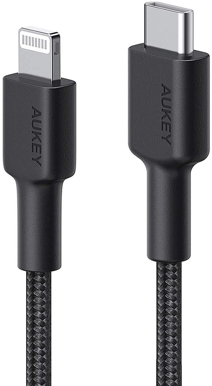 AUKEY Braided USB C to Lightning Cable 6.6ft - Amazon Lightning deal - $7.50
