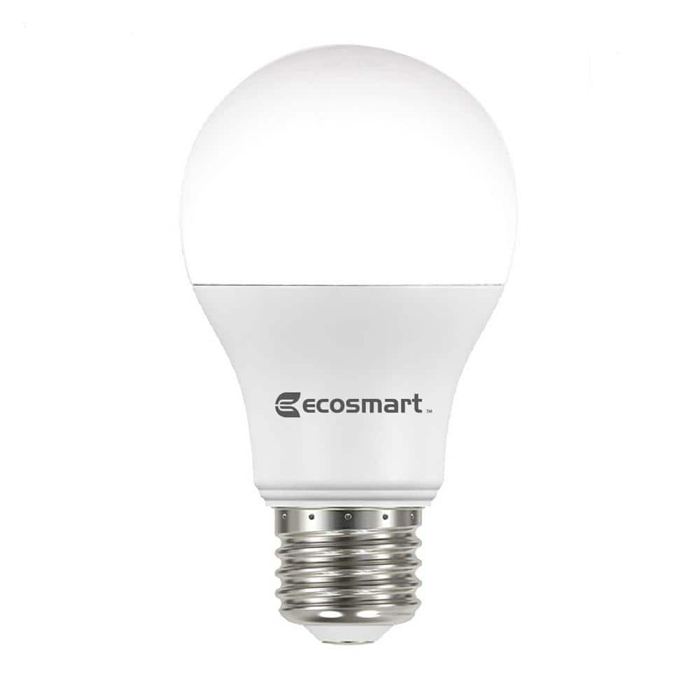 EcoSmart 60-Watt Equivalent A19 Non-Dimmable LED Light Bulb Soft White  $0.97 - YMMV
