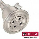 Delta Adjustable Water-Amplifying Shower Head in Satin Nickel Finish - $22.49 SHIPS FREE!