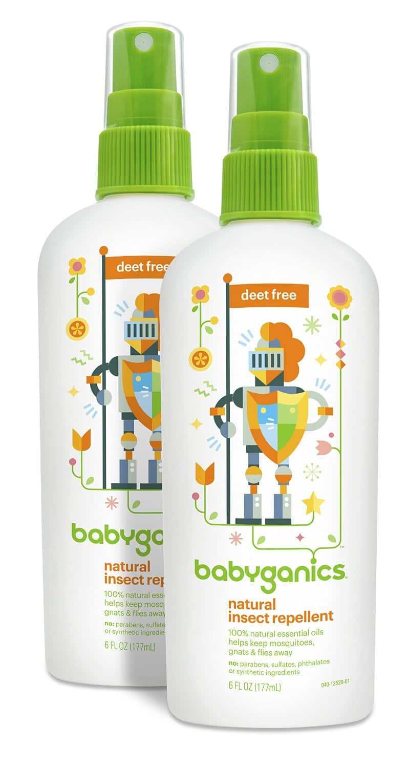 Babyganics Natural DEET-Free Insect Repellent, 6oz Spray Bottle (Pack of 2) $3.13 or $2.83 w/ 15% S&S on Amazon