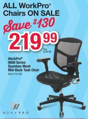 office depot and officemax black friday: workpro quantum 9000