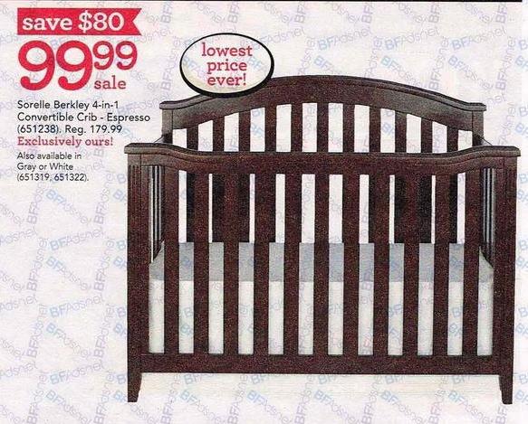 Toys R Us Black Friday: Sorelle Berkley 4-in-1 Convertible Crib for $99.99