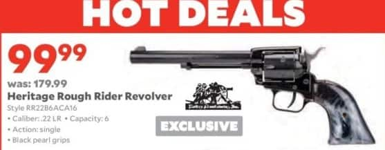 Academy Sports + Outdoors Black Friday: Heritage Rough Rider .22 LR Revolver for $99.99