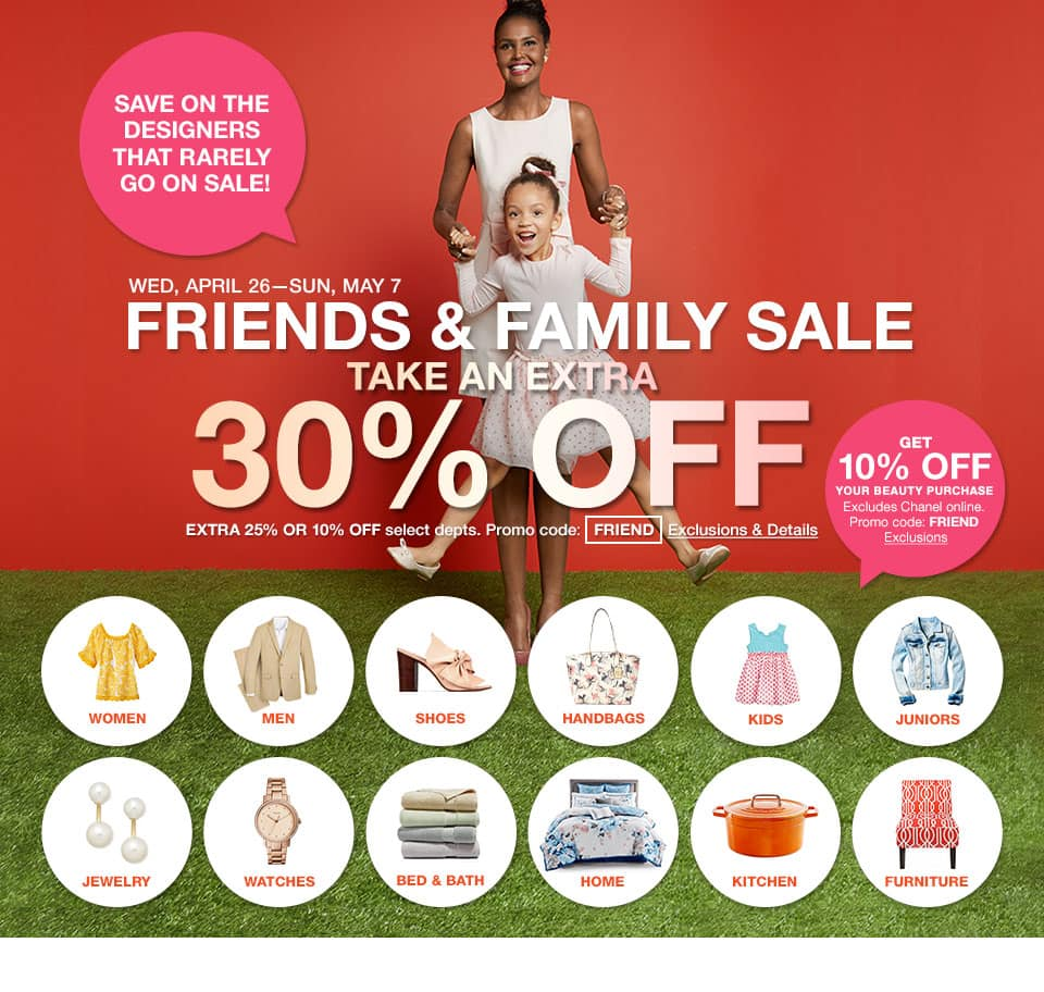 *LIVE* Macy's Friends & Family 30% off Clothing & Accessories, 25% off Jewelry & Home, 10% off Cosmetics & Electronics