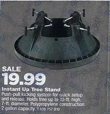 True Value Black Friday: Instant-Up Christmas Tree Stand, Medium, 7-In. Trunk Diameter for $19.99