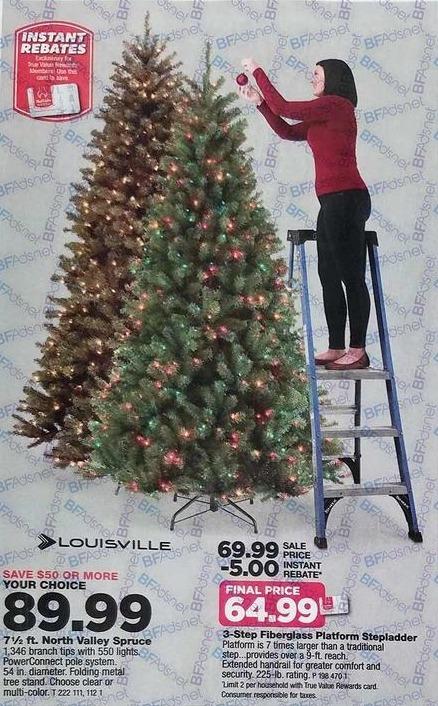 True Value Black Friday: Louisville 3-Step Platform Ladder - $64.99 w/ True Value Rewards Card