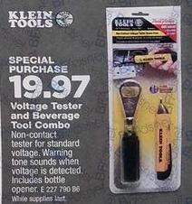 True Value Black Friday: Klein Tools Voltage Tester / Bottle Opener Combo for $19.97