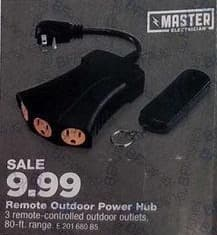 True Value Black Friday: Master Electrician Heavy-Duty Power Hub With Remote for $9.99