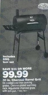 True Value Black Friday: Kingsford Charcoal Barrel Grill, 30-In. for $99.99