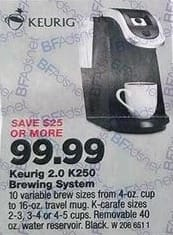 True Value Black Friday: Keurig K250 Coffee Brewing System for $99.99