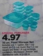 True Value Black Friday: Good Cook Food Storage Set, 32-Pc. for $4.97