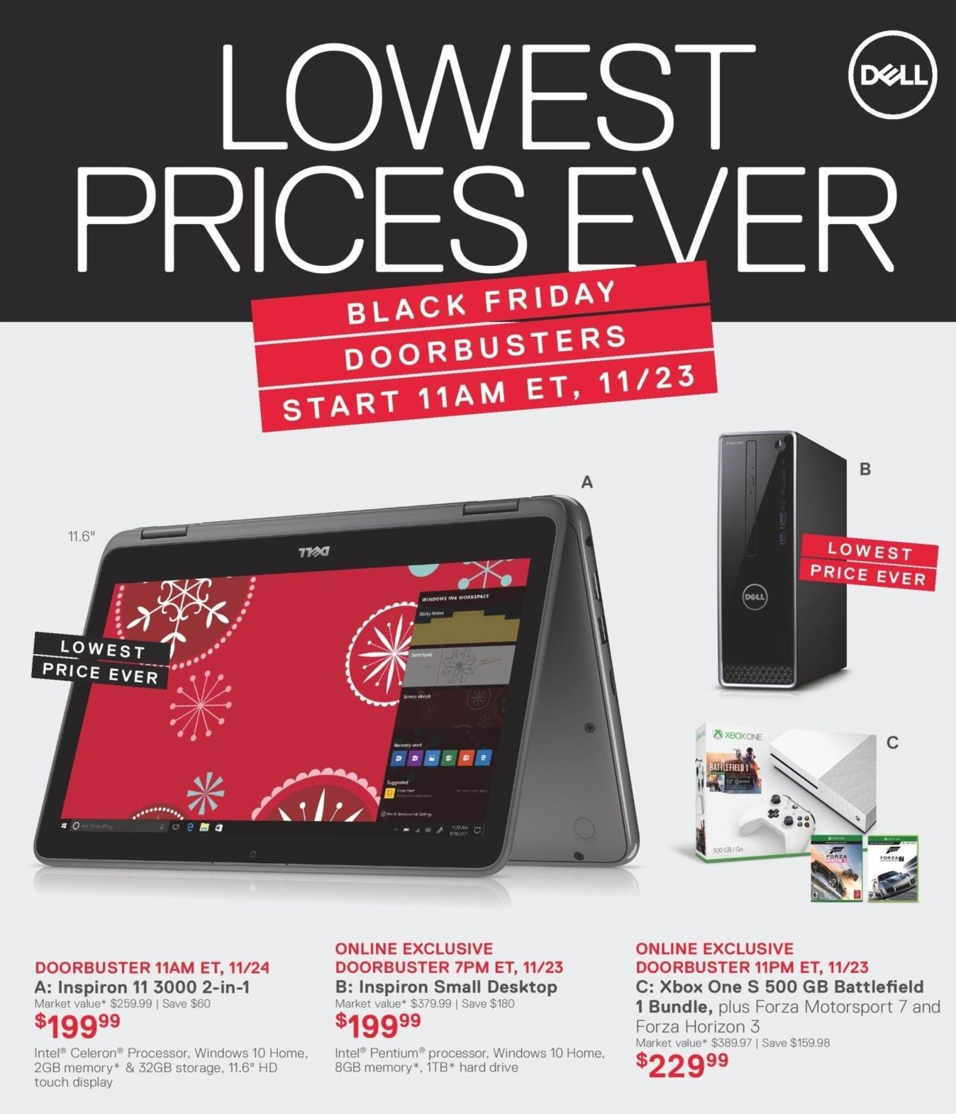 Dell Home & Office Black Friday: Dell Inspiron Small Desktop, Intel Pentium CPU, 8GB RAM, 1TB HDD & Win 10 for $199.99