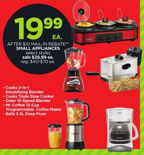 JCPenney Black Friday: Cooks Triple Slow Cooker for $19.99 after $10.00 rebate