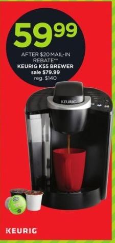JCPenney Black Friday: Keurig K55 Brewer for $59.99 after $20.00 rebate