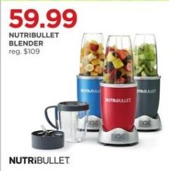 JCPenney Black Friday: Nutribullet Blender in Assorted Colors for $59.99