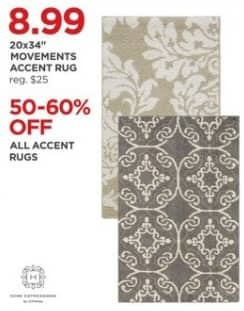 "JCPenney Black Friday: Movements 20x34"" Accent Rug for $8.99"